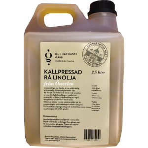Linolja Rå Kallpressad 2,5 L